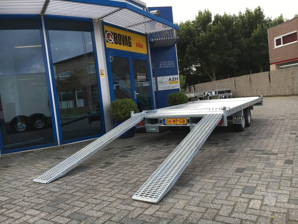 Anssems autotransporter 405x200cm 3000kg Aanhangwagens Zuid-Holland 2.0 achter open