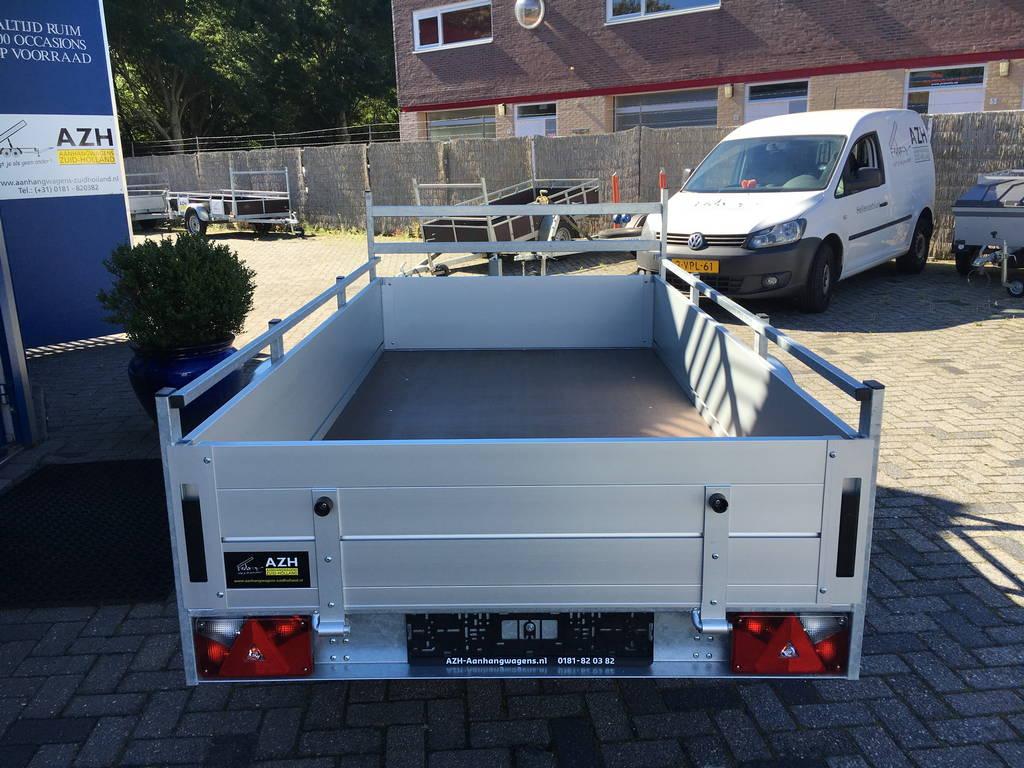 Anssems enkelas Alu 251x130cm geremd Aanhangwagens Zuid-Holland 2.0 achter dicht