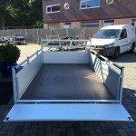 Anssems enkelas Alu 251x130cm geremd Aanhangwagens Zuid-Holland 2.0 achter open