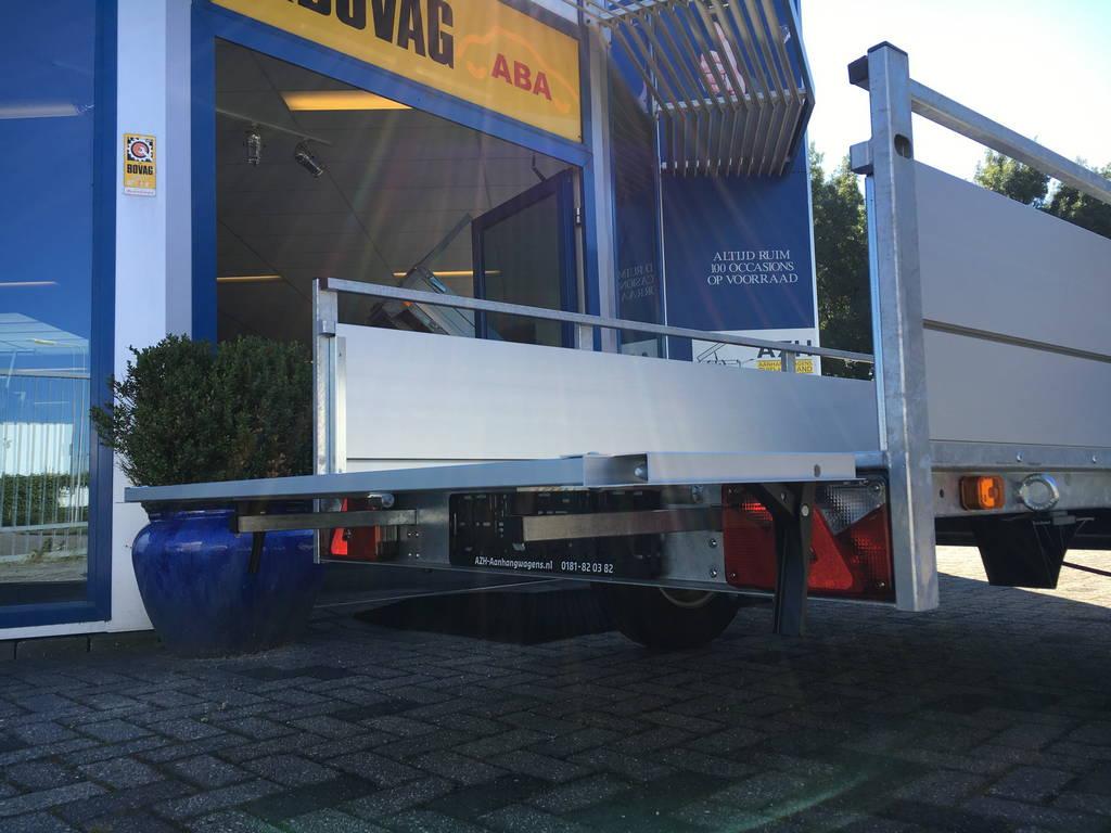 Anssems enkelas Alu 251x130cm geremd Aanhangwagens Zuid-Holland 2.0 achterklep