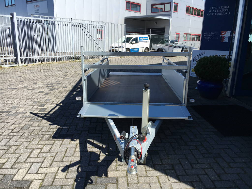 Anssems enkelas Alu 251x130cm geremd Aanhangwagens Zuid-Holland 2.0 geheel open