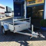 Anssems enkelas Alu 251x130cm geremd Aanhangwagens Zuid-Holland 2.0 voorkant