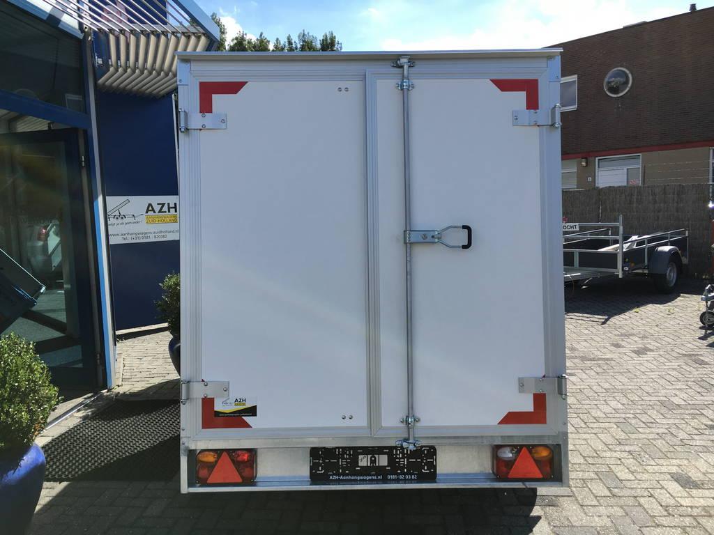 Easyline gesloten 251x153x147 750kg Aanhangwagens Zuid-Holland achterkant 2.0