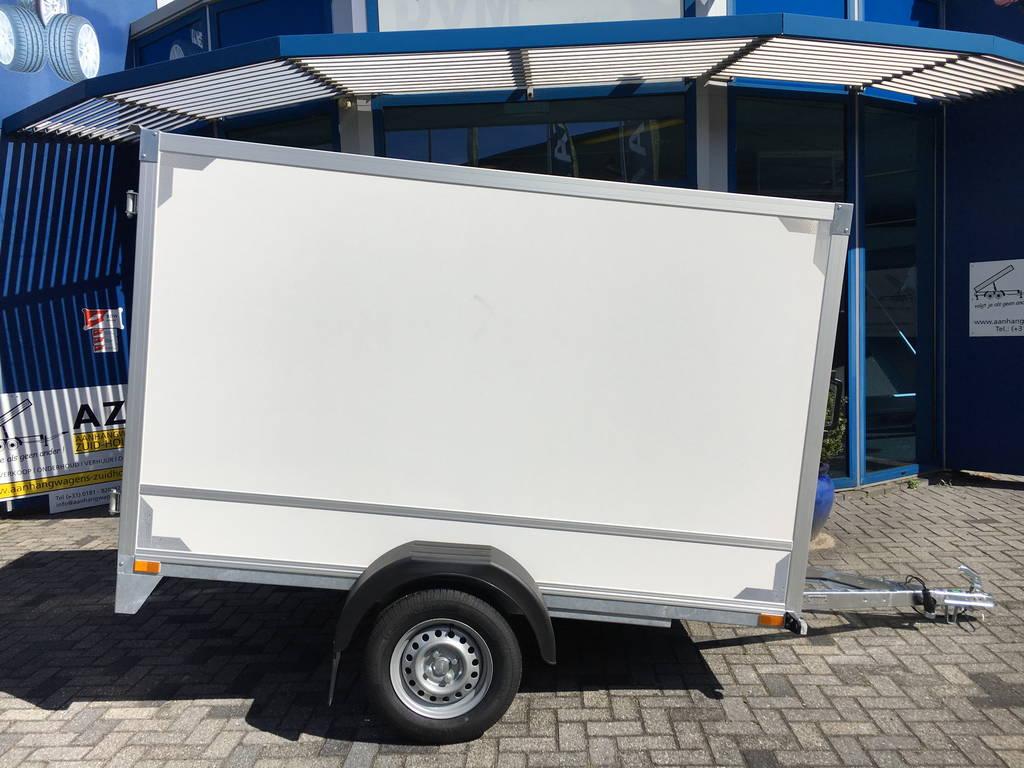 Easyline gesloten 251x153x147 750kg Aanhangwagens Zuid-Holland zijkant 2.0