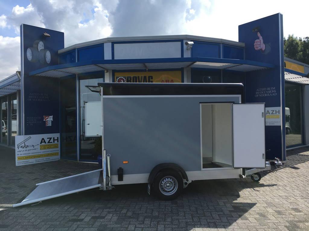Easyline gesloten aanhanger 302x150x195cm 1300kg Aanhangwagens Zuid-Holland 2.0 zijkant open