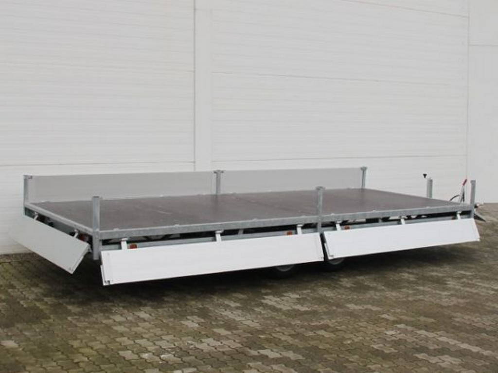 Hulco plateau 502x203cm 3000kg plateauwagens Aanhangwagens Zuid-Holland geopend