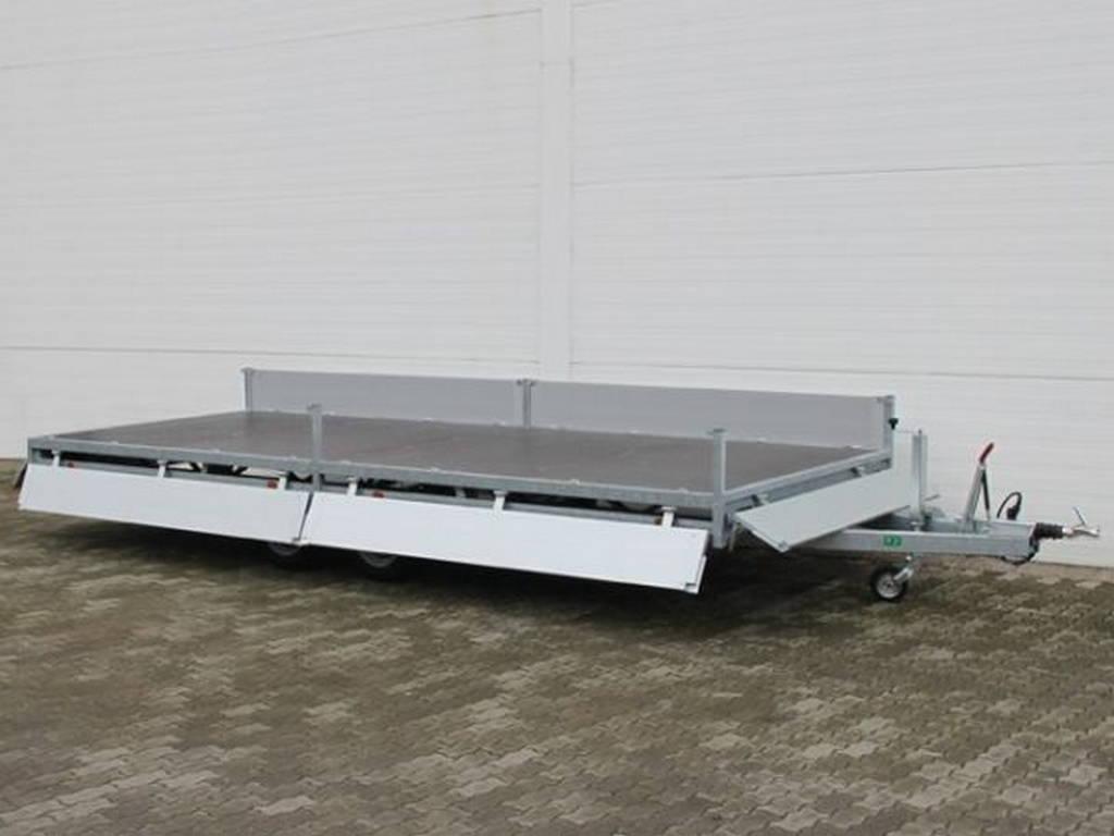 Hulco plateau 502x203cm 3000kg plateauwagens Aanhangwagens Zuid-Holland overzicht