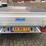 Hulco plateau 611x203cm 3500kg 3-as Aanhangwagens Zuid-Holland achterkant