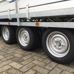 Hulco plateau 611x203cm 3500kg 3-as Aanhangwagens Zuid-Holland drie as