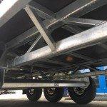 Hulco plateau 611x203cm 3500kg 3-as Aanhangwagens Zuid-Holland onderstel
