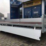 Hulco plateau 611x203cm 3500kg 3-as Aanhangwagens Zuid-Holland zijkant open