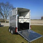 Ifor Williams HB506 2 paards trailer Aanhangwagens Zuid-Holland achterkant open