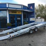 Ifor Williams autotransporter 510x230cm Aanhangwagens Zuid-Holland 2.0 gekanteld