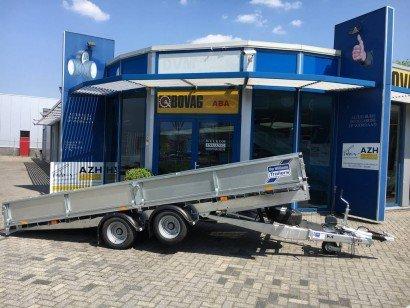 Ifor Williams kantelbaar 477x198cm 3500kg machinetransporter Aanhangwagens Zuid-Holland nw zijkant