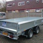 Ifor Williams kipper 362x195cm 3500kg kippers Aanhangwagens Zuid-Holland achterkant