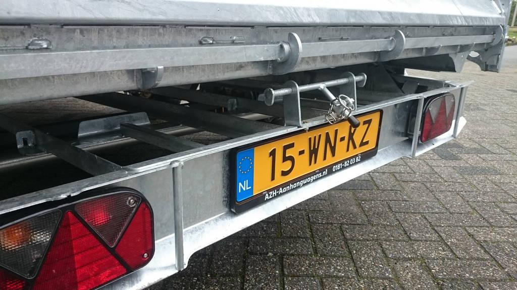 Ifor Williams kipper 362x195cm 3500kg kippers Aanhangwagens Zuid-Holland verlichting