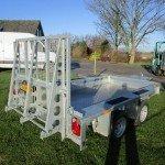 Ifor Williams transporter 303x157cm 3500kg Aanhangwagens Zuid-Holland achter dicht