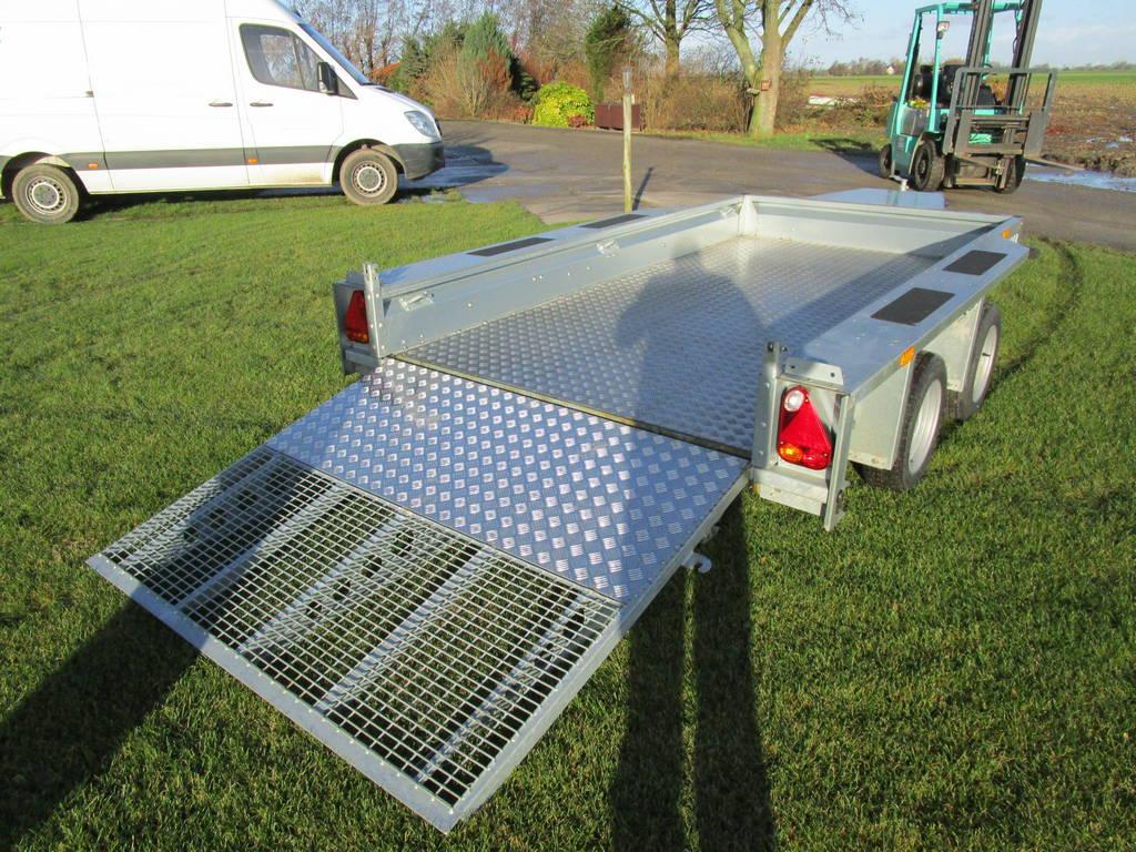 Ifor Williams transporter 303x157cm 3500kg Aanhangwagens Zuid-Holland achter open