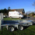 Ifor Williams transporter 303x157cm 3500kg Aanhangwagens Zuid-Holland zijkant