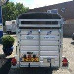 Ifor Williams veetrailer 244x121x153cm Aanhangwagens Zuid-Holland nw achterkant dicht