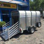 Ifor Williams veetrailer 244x121x153cm Aanhangwagens Zuid-Holland nw zijkant open