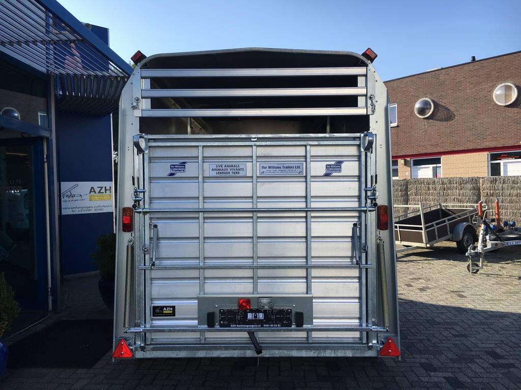 Ifor Williams veetrailer 304x156x183cm Aanhangwagens Zuid-Holland achterkant gesloten 2.0