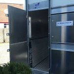 Ifor Williams veetrailer 304x156x183cm Aanhangwagens Zuid-Holland zijkant deur 2.0