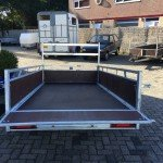Loady enkelas 250x130cm bakwagens enkelas Aanhangwagens Zuid-Holland acherkant open 2.0