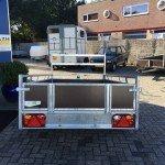 Loady enkelas 250x130cm bakwagens enkelas Aanhangwagens Zuid-Holland achterkant gesloten 2.0