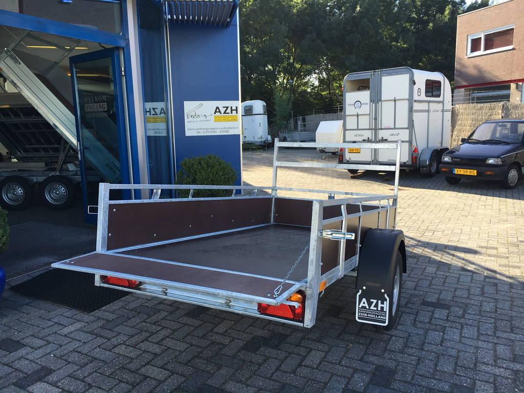 Loady enkelas 250x130cm bakwagens enkelas Aanhangwagens Zuid-Holland achterkant open 2.0