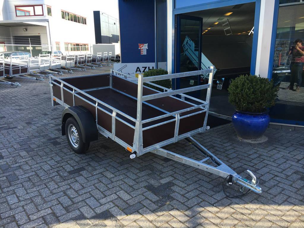 Loady enkelas 250x130cm bakwagens enkelas Aanhangwagens Zuid-Holland hoofd 2.0