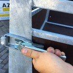 Loady enkelas 250x130cm bakwagens enkelas Aanhangwagens Zuid-Holland sluiting 2.0