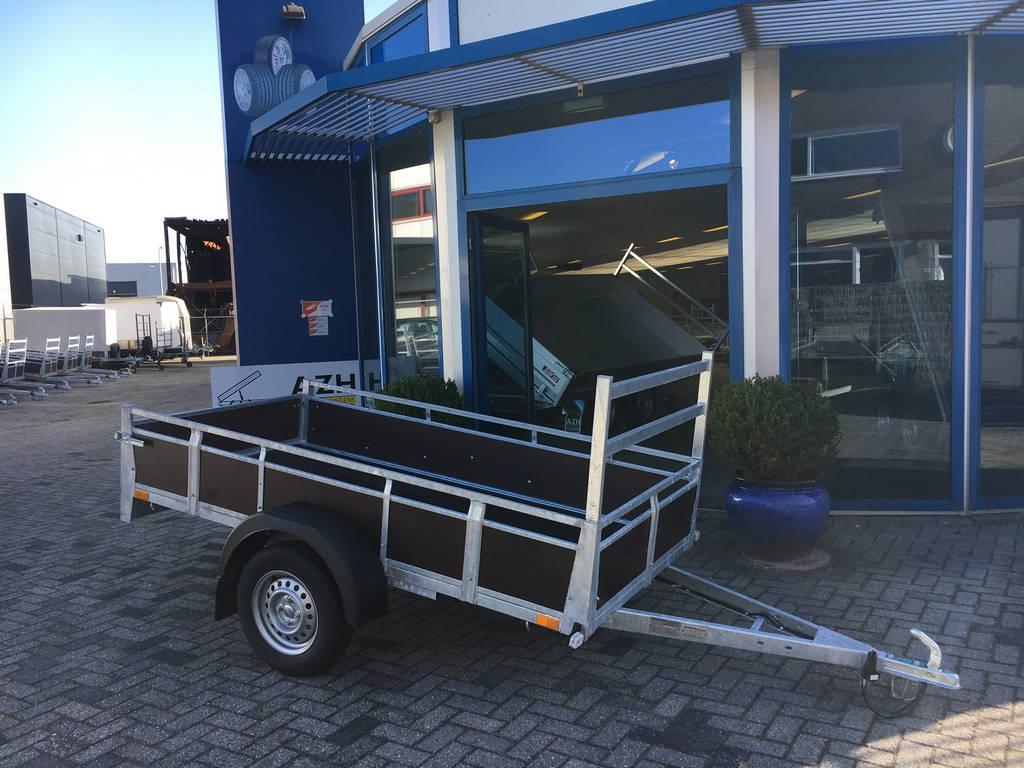 Loady enkelas 250x130cm bakwagens enkelas Aanhangwagens Zuid-Holland zijkant 2.0