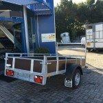 Loady enkelas 250x130cm bakwagens enkelas Aanhangwagens Zuid-Holland zijkant achter 2.0