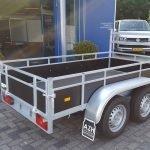 Loady tandemas 250x130cm 750kg Aanhangwagens Zuid-Holland achterkant