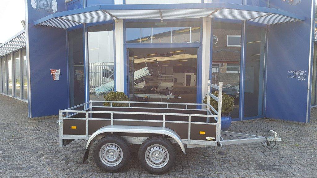 Loady tandemas 250x130cm 750kg Aanhangwagens Zuid-Holland zijkant