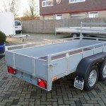 Loady tandemas 307x131cm bakwagens tandemas Aanhangwagens Zuid-Holland achterkant