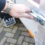 Loady tandemas 307x131cm bakwagens tandemas Aanhangwagens Zuid-Holland sluiting