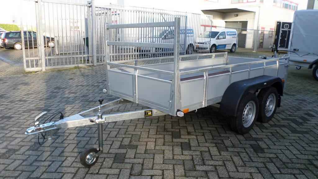 Loady tandemas 307x131cm bakwagens tandemas Aanhangwagens Zuid-Holland zijkant
