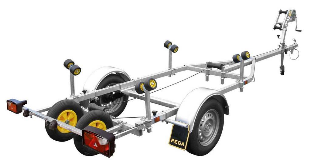 Pega boottrailer 500x180cm boottrailers Aanhangwagens Zuid-Holland hoofd