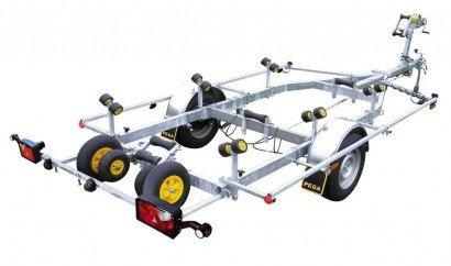 Pega boottrailer 650x190cm boottrailers Aanhangwagens Zuid-Holland hoofd