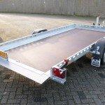 Proline autotransporter 375x180cm autotransporters Aanhangwagens Zuid-Holland achterkant