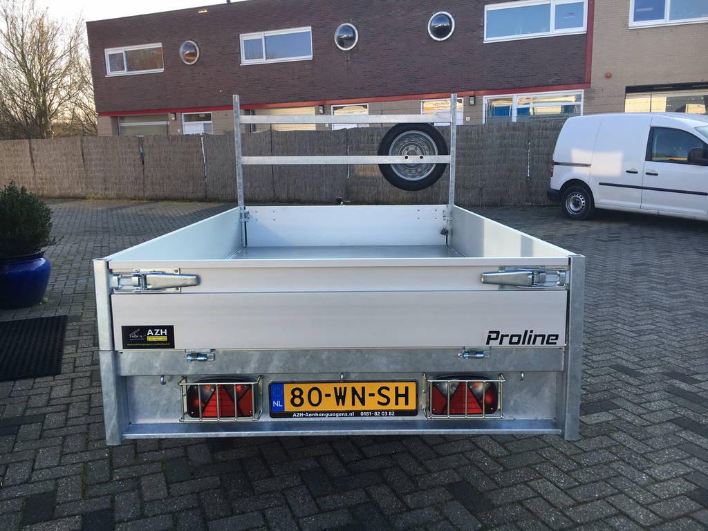 Proline plateau 251x155cm 1350kg plateauwagens Aanhangwagens Zuid-Holland achterkant