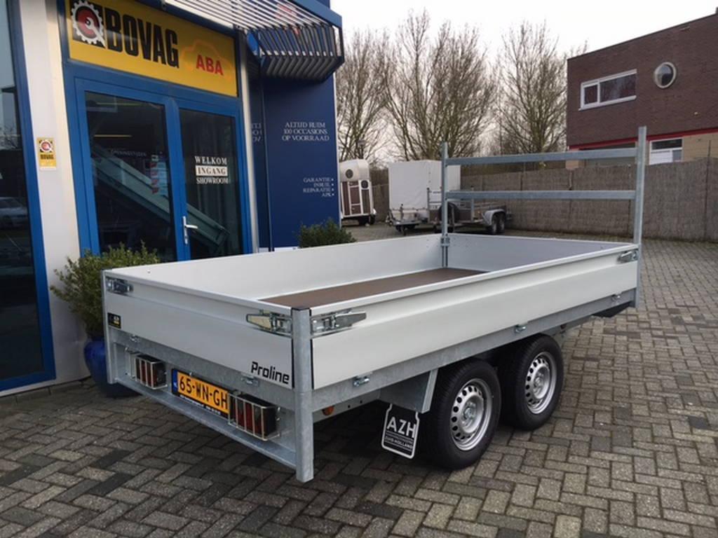 Proline plateau 301x155cm 2000kg plateauwagens Aanhangwagens Zuid-Holland zijkant