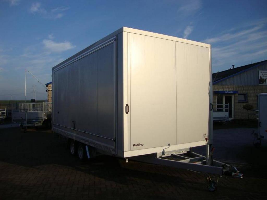 Proline podiumwagen 550x200x200cm verkoopwagens Aanhangwagens Zuid-Holland gesloten