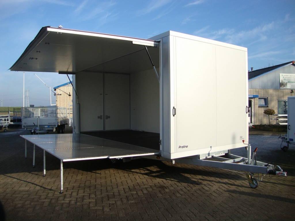 Proline podiumwagen 550x200x200cm verkoopwagens Aanhangwagens Zuid-Holland overzicht
