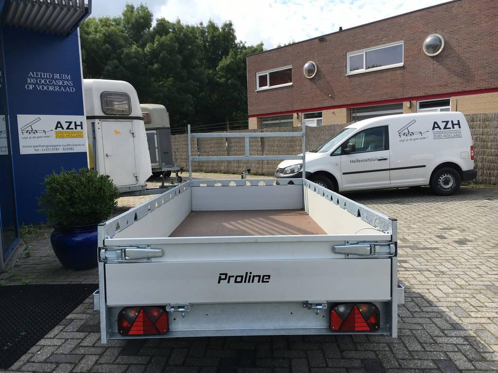 Proline tandemas alu 305x131cm bakwagens tandemas Aanhangwagens Zuid-Holland achter dicht