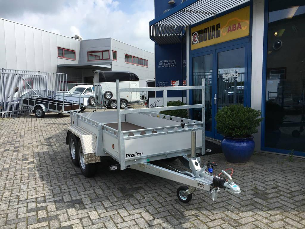 Proline tandemas alu 305x131cm bakwagens tandemas Aanhangwagens Zuid-Holland voorkant