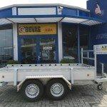 Proline tandemas alu 305x131cm bakwagens tandemas Aanhangwagens Zuid-Holland zijkant
