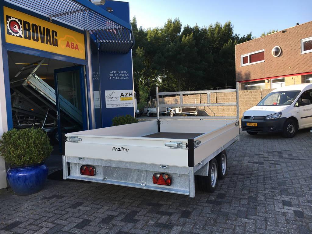 Proline verlaagd 301x185cm 2700kg plateauwagen Aanhangwagens Zuid-Holland 3.0 achterkant dicht